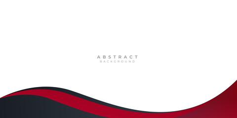 Modern black red abstract wave curved background for presentation design Fototapete