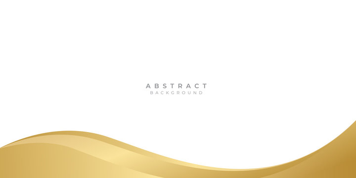 Modern gold yellow abstract wave curved background for presentation design