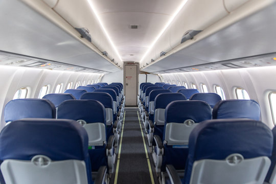 empty interior of the passenger aircraft