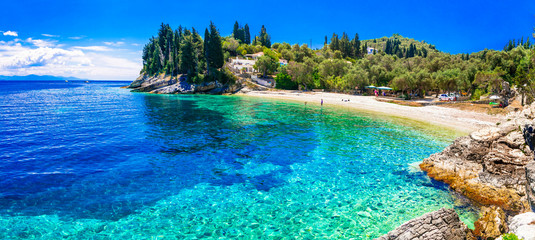 Paxos island with beautiful deserted beaches - Levrechio. Ionian islands of Greece Fototapete