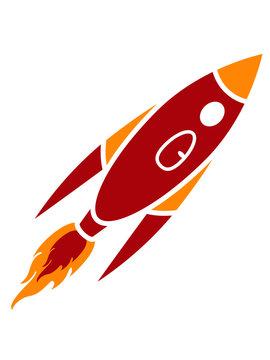 Clipart Rote Rakete