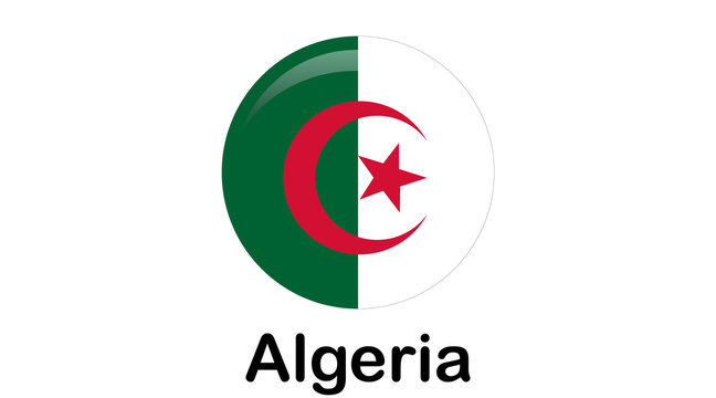 original and simple Algeria flag isolated in official colors and Proportion Correctly