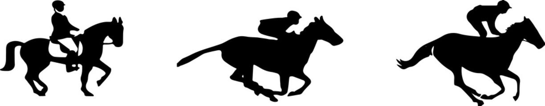 horsemen icon isolated on white background Papier Peint