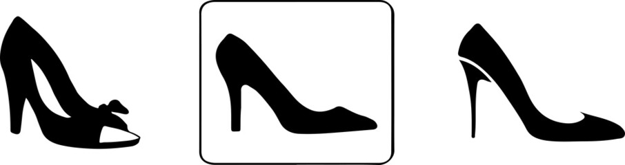 woman shoes icon isolated on white background