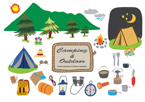 props to express camping in the woods, We can express various scenery using props.