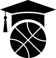Black Basketball training icon isolated on white background.  Vector Illustration