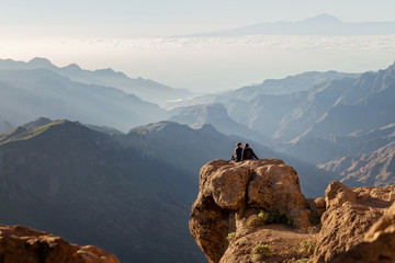 View from Roque Nublo, Gran Canaria, Spain