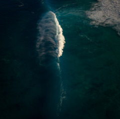 Fototapete - aerial view of the sea