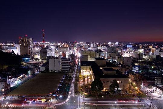宇都宮市 栃木県庁から見た街並み