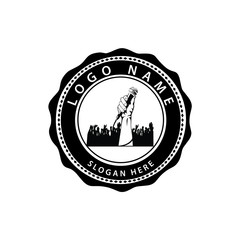 Singers logo template - VECTOR