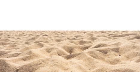 Wall Mural - Beach isolated, beach sand texture di-cut on white.