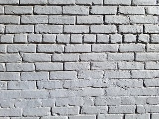 Gray Painted Brick Wall with Stretcher and Header Courses