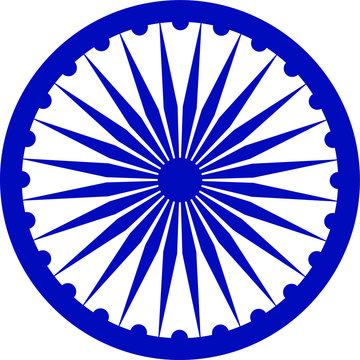 illustration vector icon of ashoka chakra easy to use and edit