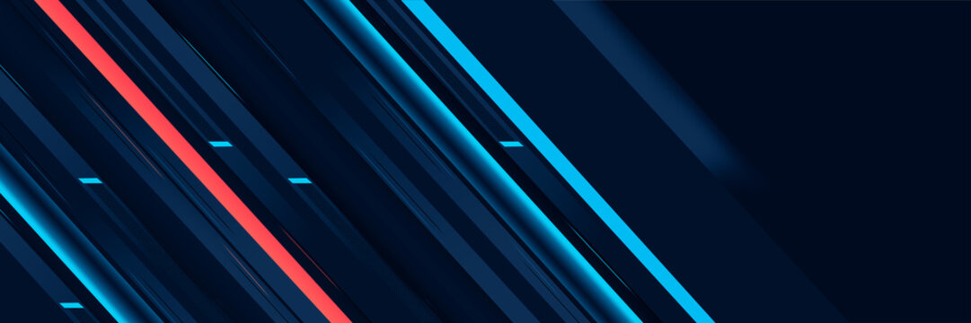 Abstract modern cyber metallic lines background card template banner design