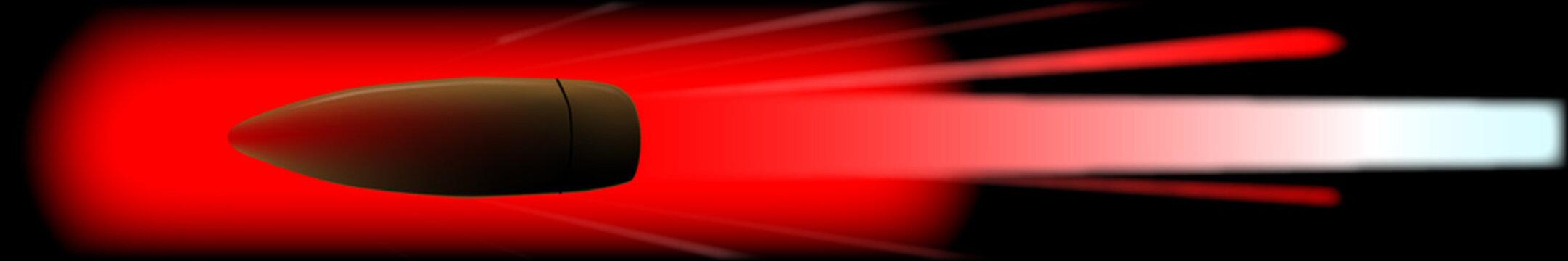 Red Hot Bullet Internet Web Banner Background
