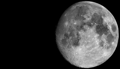 The Moon is the Earth's largest natural satellite and can be seen in the night sky.