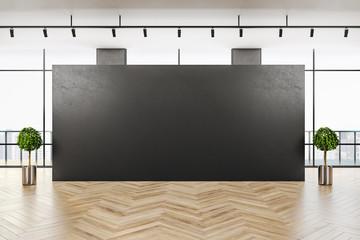 Modern gray gallery interior