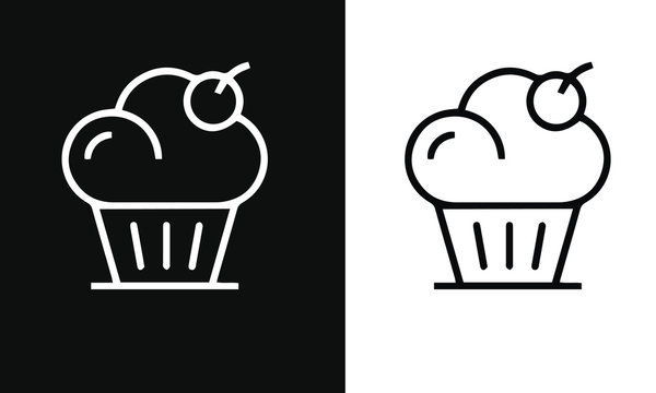 Bakery icons vector design black and white