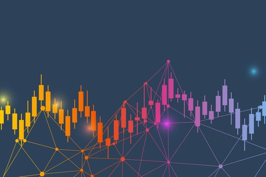 Stock market or forex trading graph. Chart in financial market vector illustration Abstract finance background.