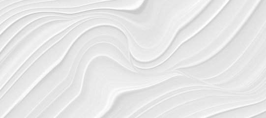 Foto auf AluDibond Abstrakte Welle Abstract grey white waves and lines pattern. Futuristic template background.