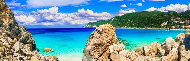 Splendid deserted beaches of Ionian islands. Lefkada, Greece
