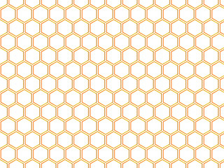 Repeating hexagon vector pattern