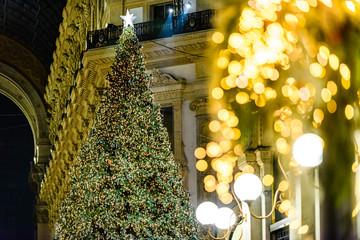 Milano luci di Natale Piazza Duomo e Galleria