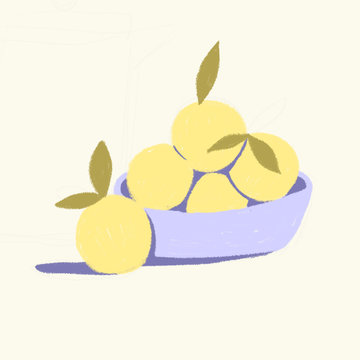 A basket of yellow fruits