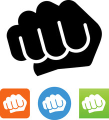 Fist Bump Hand Gesture Vector Icon