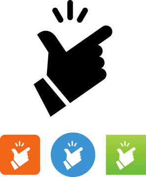 Fingers Snapping Hand Gesture Vector Icon