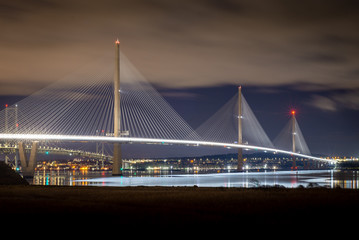 Photo sur Aluminium Rotterdam The Forth Road Bridges