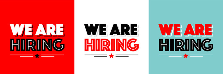 We are hiring Wall mural