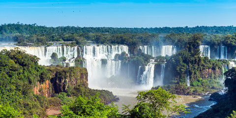 Photo sur Toile Brésil Waterfalls Cataratas Foz de Iguazu, Brazil.