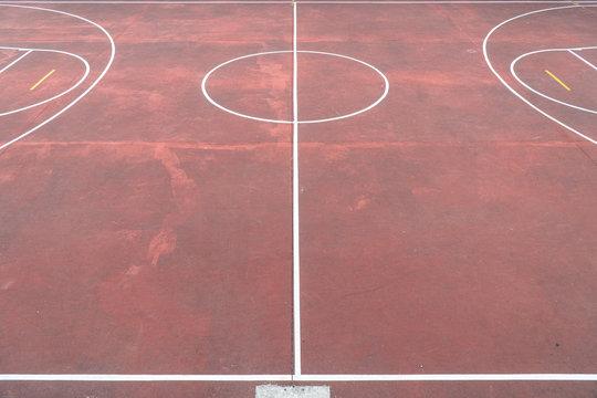 Multi sport game court at school backyard