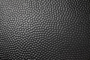 Close-up of black basketball texture