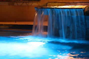 Acrylic Prints Waterfalls Night light waterfall
