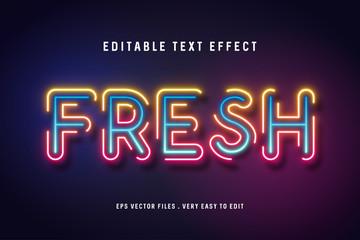 Fresh text effect premium vector, editable text Wall mural