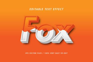 Fox 3d realistic text effect Wall mural