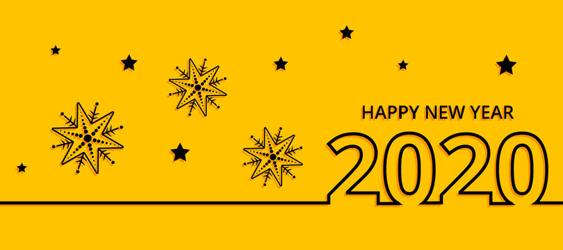 Happy new year 2020 vector background