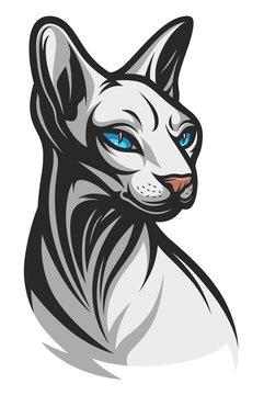 Sphinx cat illustration