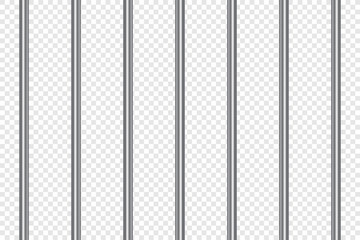 Prison bars realistic. Jail lattice or bars style on isolated background. Vector illustration.