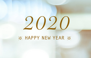Photo sur Aluminium Pays d Afrique Happy New Year 2020 on blur abstract bokeh background, new year greeting card, banner