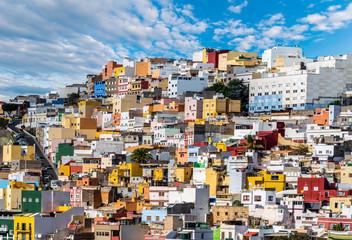 Wall Mural - Colorful houses of Las Palmas de Gran naria, Spain