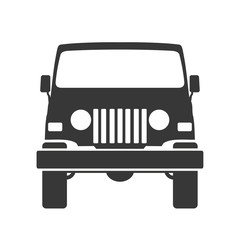 offroad - jeep icon vector  illustration