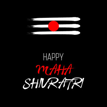 Greeting for Hindu festival Maha Shivratri - Vector for banner, t-shirt graphics, fashion prints, slogan tees, stickers, cards, poster, emblem and other creative uses