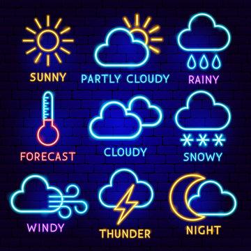 Weather Neon Label Set
