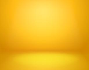 Yellow studio background. Empty vivid yellow studio room, modern workshop interior in perspective. Website wallpaper vector mockup - fototapety na wymiar