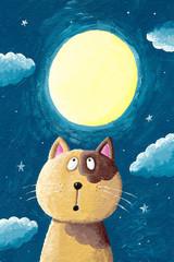 Ilustracja Akwarela Kot