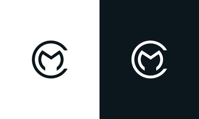 Minimalist line art letter round MC logo. This logo icon incorporate with letter M and C in the creative way.