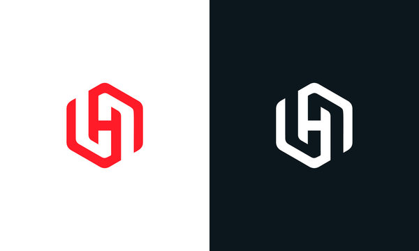 Modern creative line art letter H logo.